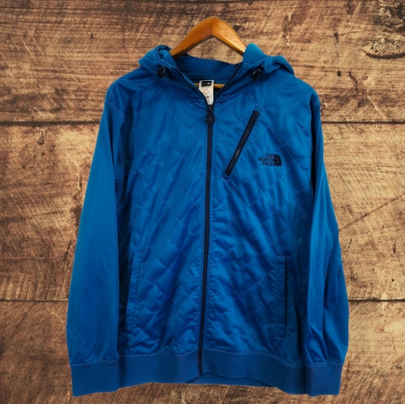 THE NORTH FACE VIBRANT BLUE FULL ZIP HOODIE